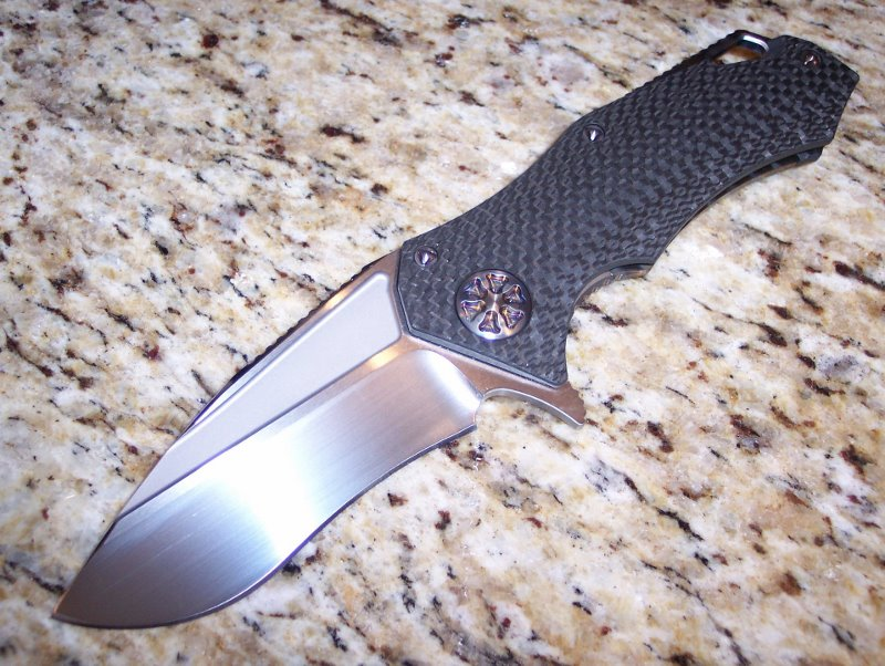 Marfione Star Lord Carbon Fiber w/ Ti Hardware & Satin Blade<p> Custom