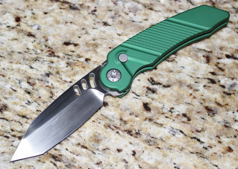 Ratworx MRX Green Hand Ground Satin Tanto Blade