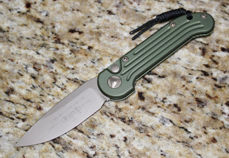 Microtech LUDT OD Green Bronze Standard <p> 135-13OD