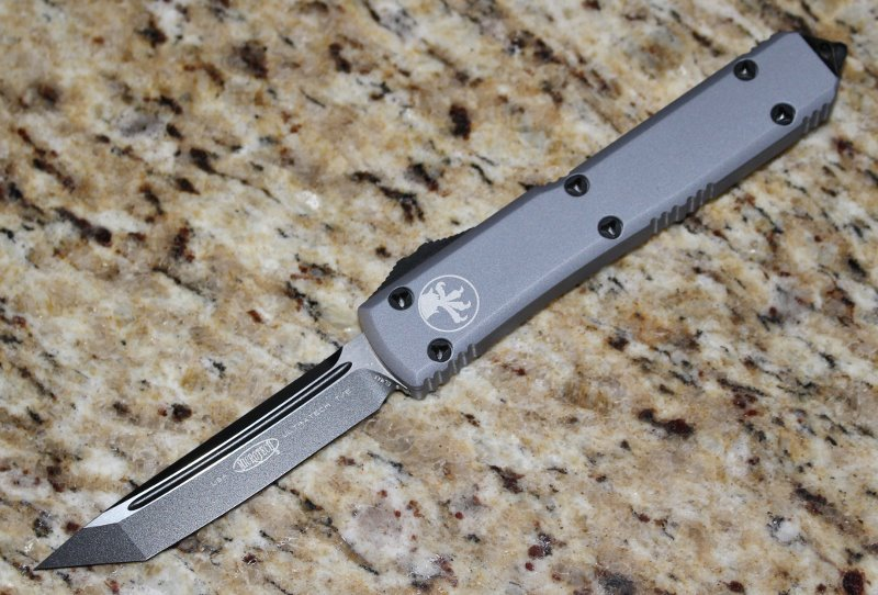 Microtech Ultratech Contour Grey T/E Tactical Standard <p> 123-1GY