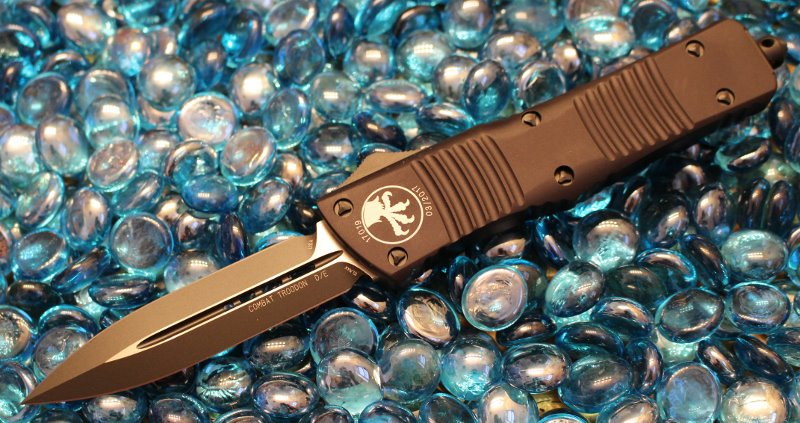 SOLD Microtech Combat Troodon D/E Tactical Standard <p> 142-1T