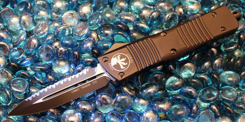 SOLD Microtech Combat Troodon D/E  Tactical Full Serrated <p> 142-3T