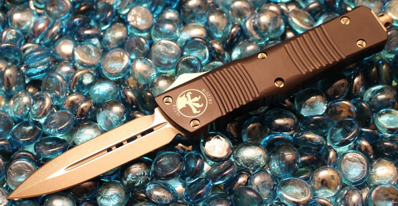 SOLD Microtech Combat Troodon D/E Stonewash Standard <p> 142-10