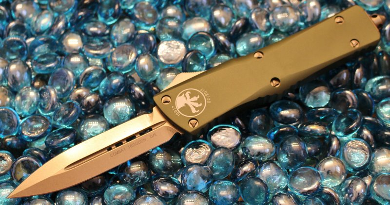 Microtech Combat Troodon OD Green D/E Bronze Standard <p> 142-13OD
