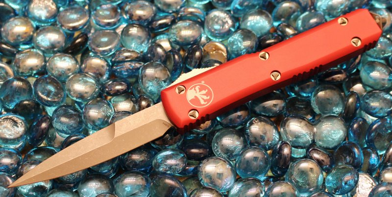Microtech Ultratech Contour Red B/E Apocalyptic Standard <p> 120-10APRD
