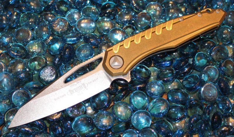 Microtech MK6 Brass Sigil Stonewash <p> 196-10BR