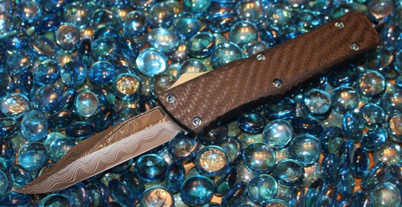 SOLD Marfione Custom CF Combat Troodon Damascus Bowie M-390 <p> SN083