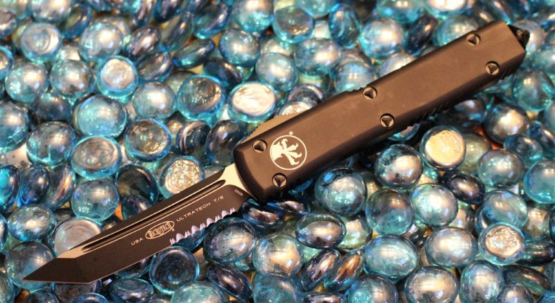 SOLD Microtech Ultratech Contour T/E Tactical Serrated <p> 123-2T