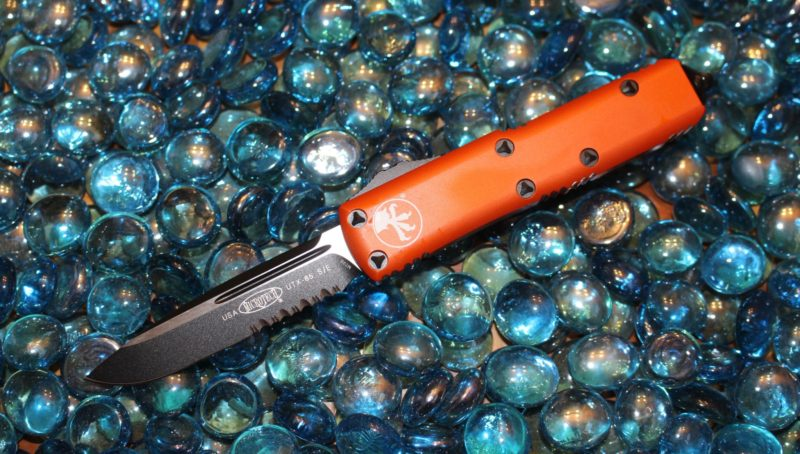 SOLD Microtech UTX-85 Orange S/E Black Standard <p> 231-2OR