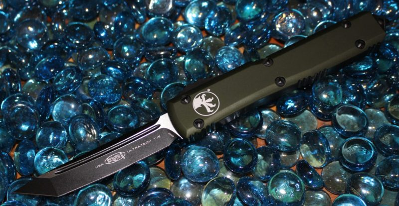 SOLD Microtech Ultratech Contour OD Green T/E Tactical Standard <p> 123-1OD
