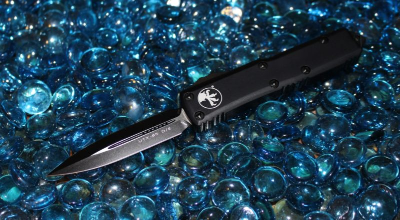 SOLD Microtech UTX-85 D/E Tactical Standard <p> 232-1T