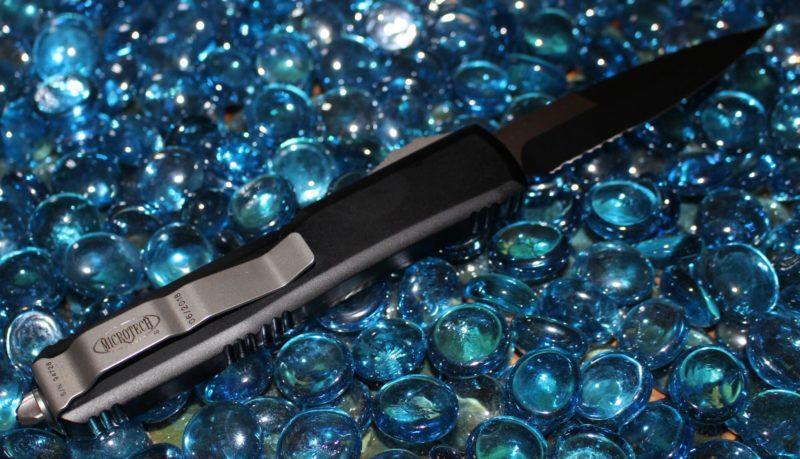 Microtech Ultratech Contour B/E Black Serrated<p> 120-2