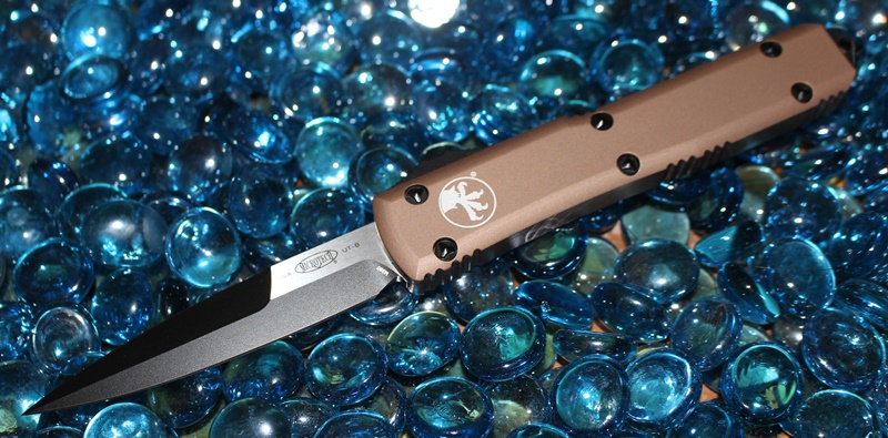 Microtech Ultratech Tan Contour B/E Black Standard <p> 120-1TA