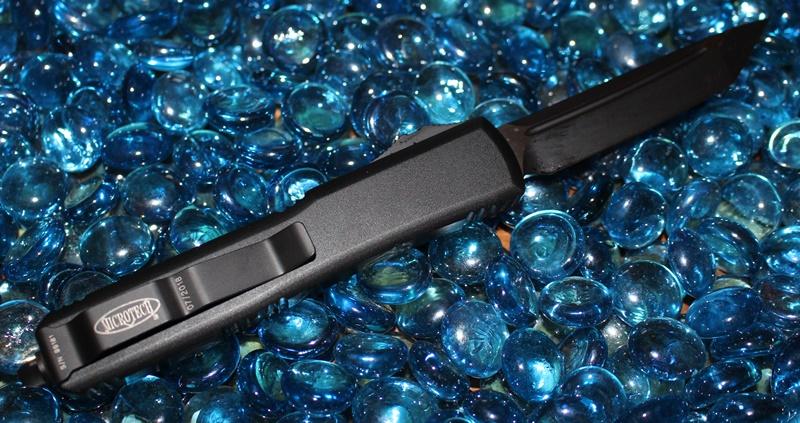 Microtech Ultratech Contour Cerakote Black T/E  Standard<p>123-1CBK