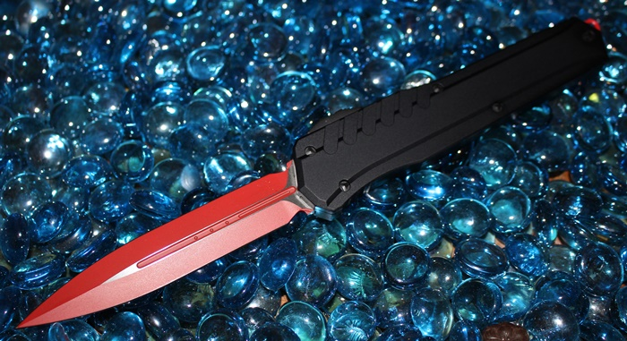 Microtech Cypher MK7 SIth Red Blade Black Hardware D/E Standard<p>242M-1RDBK
