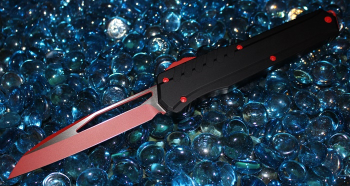 Microtech Cypher MK7 SIth Red Blade-Hardware Wharncliffe Standard 241M-1RDB