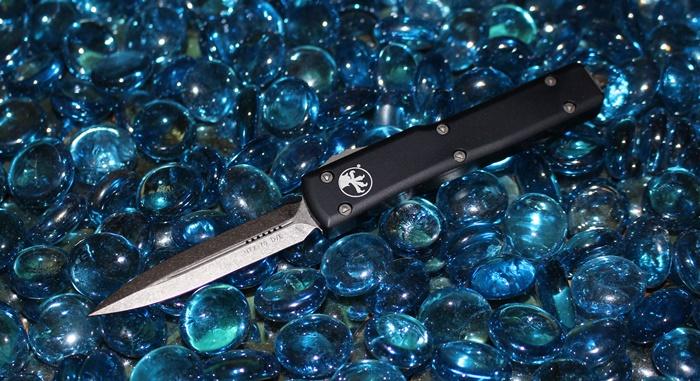 Microtech UTX-70 D/E Stonewash Standard 147-10