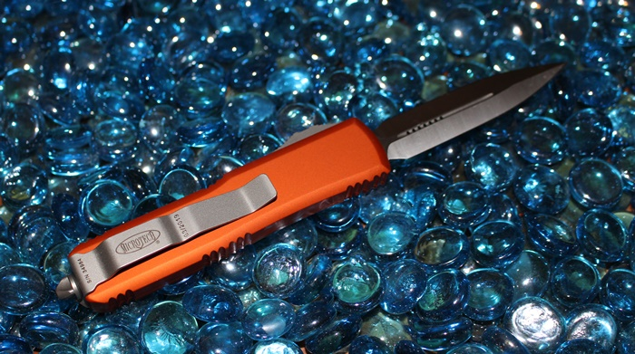 Microtech UTX-85 Orange D/E Satin Standard<p>232-4OR