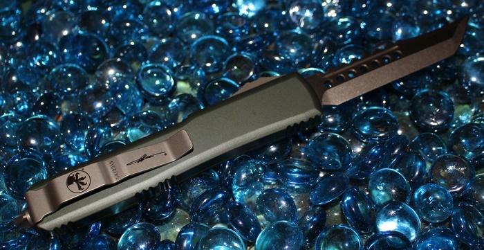 Microtech Ultratech OD Green Bronzed Hellhound<p> 119-13OD