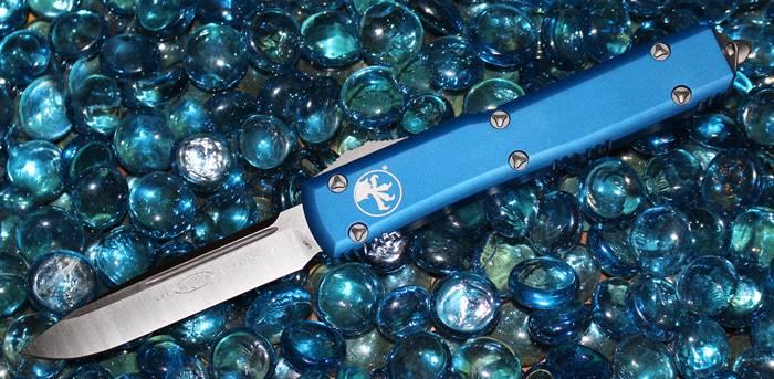 Microtech Ultratech Blue S/E Satin Standard 121-4BL