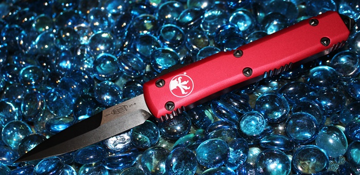 Microtech Ultratech Red B/E DLC Tactical Standard 120-1DLCTRD