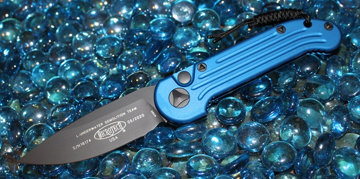 Microtech LUDT Blue S/E Black Standard 135-1BL