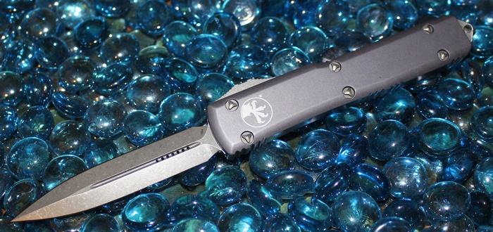 Microtech Ultratech Grey D/E Apocalyptic Standard 122-10APGY