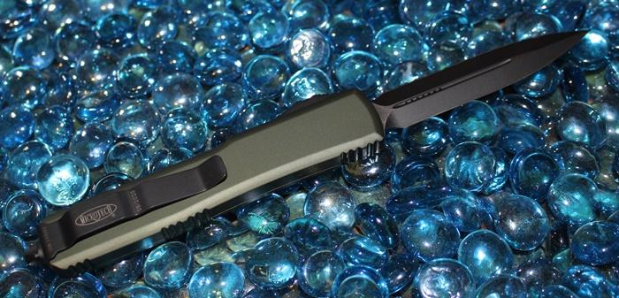 Microtech Ultratech OD Green D/E Black Serrated 122-3OD